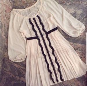 Free people white shiffon dress